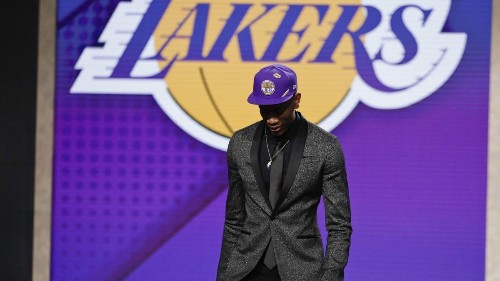 What will De'Andre Hunter do with the useless Lakers hat he got on draft night?