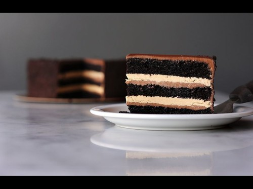 This layer cake from Proof Bakery is a sweet lesson in chocolate architecture