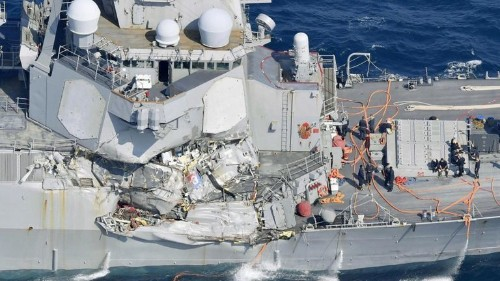 'Water on deck!' 'Get out!' Navy investigation details mid-ocean collision that killed seven sailors - Los Angeles Times