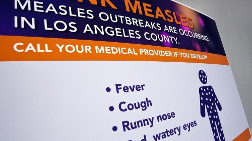 A new case of measles is reported in L.A. County