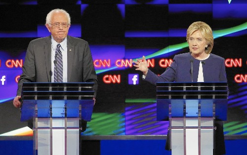 At Democratic debate, Hillary Clinton plays to her strengths, Bernie Sanders to his base