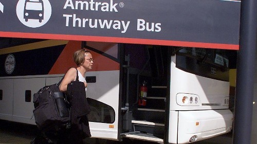 Six injured after Amtrak bus overturns on 101 Freeway - Los Angeles Times