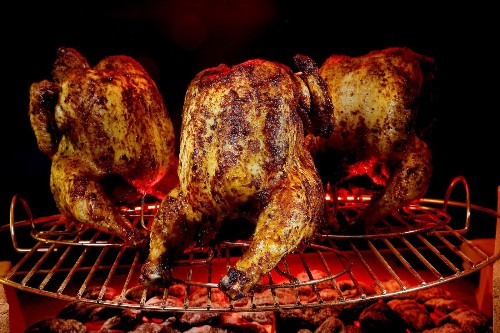 Beer can chicken on the grill takes a twist