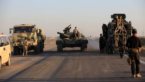 Iraqi troops drive into Fallouja in offensive to retake it from Islamic State
