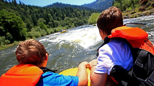 Looking for a tame rafting trip? This California river has easy rapids, warm swimming holes and is great for kids