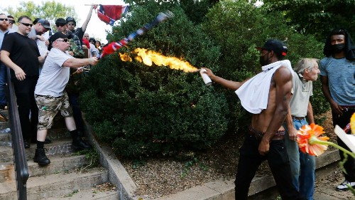 Black man who wielded flamethrower during white nationalist rally in Charlottesville is arrested