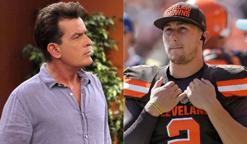 Johnny Manziel resurfaces on Twitter by retweeting an old post by Charlie Sheen