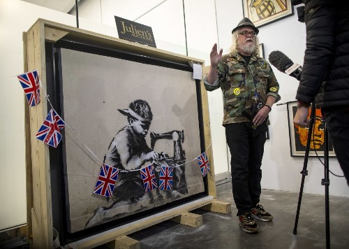 Street artist Ron English vowed to whitewash a $730,000 Banksy mural. Then things got even weirder - Los Angeles Times