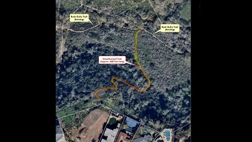 Illegal 600-foot trail cuts through Newport's Buck Gully Reserve