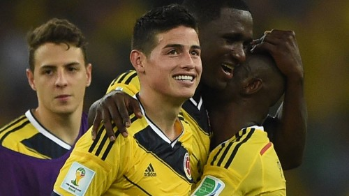 James Rodriguez leads Colombia past Uruguay, 2-0, at World Cup