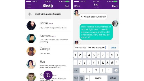 Kindly app lets strangers bond briefly over troubles - Los Angeles Times