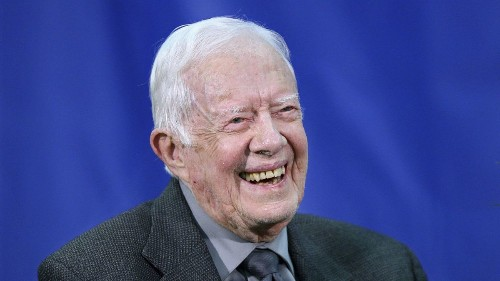 Former President Carter, recovering from a broken hip, cancels plans to teach Sunday school