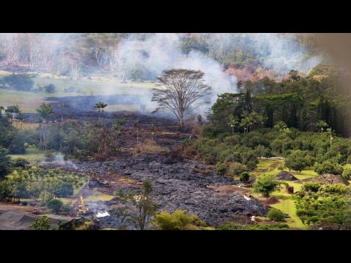 In Hawaii, emergency declared as lava approaches subdivisions