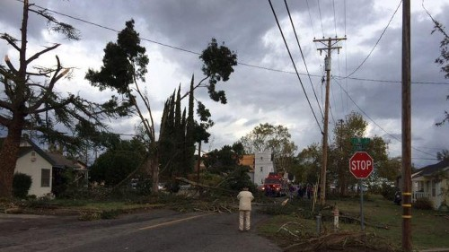 Wild weather births tornado in Central Valley, causes power outages in Southern California