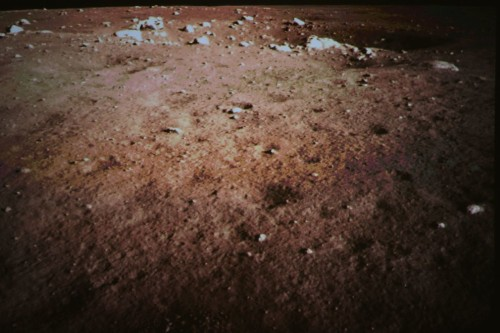 China state media posts images from moon rover