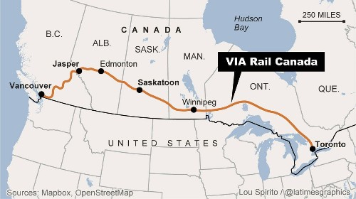 Canada by train in winter reveals dazzling Great White North - Los Angeles Times