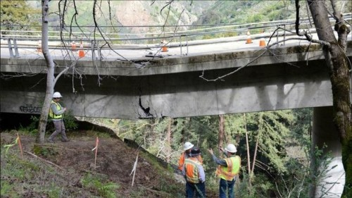 California's coastal Highway 1 is now temporarily closed in several places after recent storms