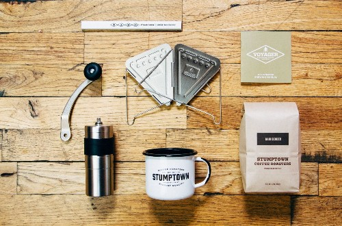 A brewing kit for coffee aficionados on the go