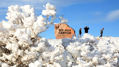 It just snowed in Vegas and likely will again this week. That isn't normal