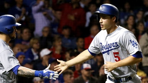 Dodgers do little against Jake Arrieta, but beat up Cubs relievers in 5-0 win