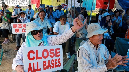 Even as they fear China, Okinawans battle against U.S. bases in Japan - Los Angeles Times