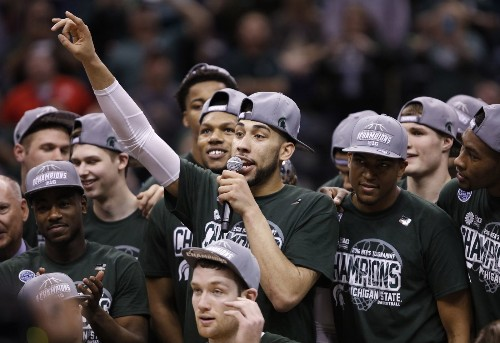 As he sees it, it'll be Michigan State over Kansas for the NCAA title - Los Angeles Times