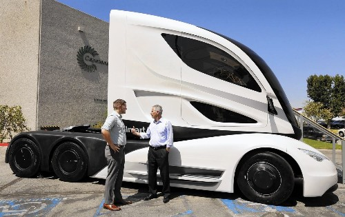 Wal-Mart test truck aims to slash fuel consumption on big rigs - Los Angeles Times