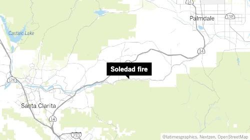 Firefighters battle Soledad fire near Agua Dulce