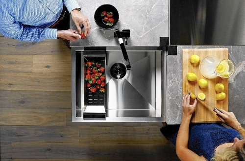 You've never seen a kitchen island sink like this