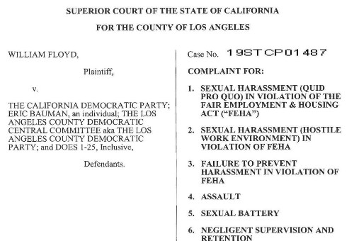 Read the complaint against Eric Bauman and the California Democratic Party