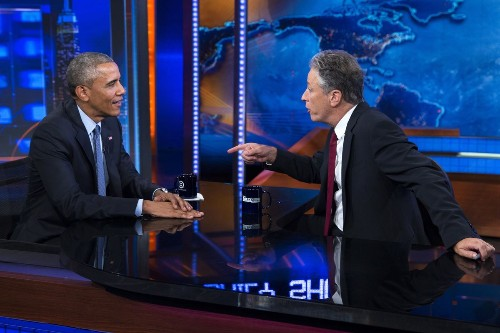 Interviewing Obama, Jon Stewart gets serious for a moment