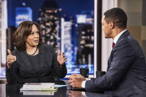 After a chat with Trevor Noah, Kamala Harris has fences to mend in New Hampshire