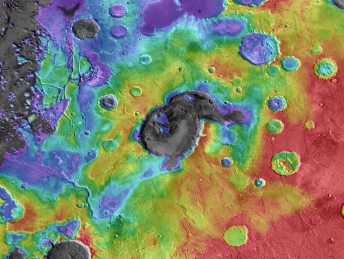 That's no crater! First explosive supervolcanoes found on Mars