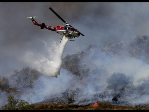 Mandatory evacuations ordered in Cleveland National Forest wildfire