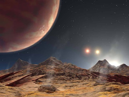 Hot Jupiter! Astronomers discover giant planet with three shining suns