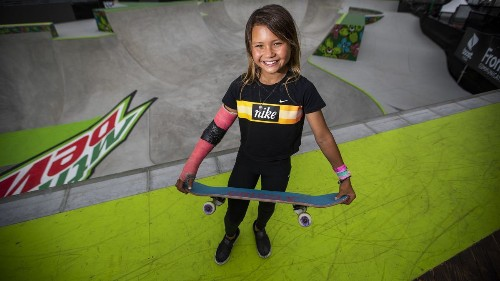 Young, small, but mighty: Skateboarder Sky Brown shreds path toward Olympics