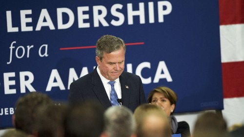 Jeb Bush, an early front-runner who couldn't keep pace with his party or outrun his family history