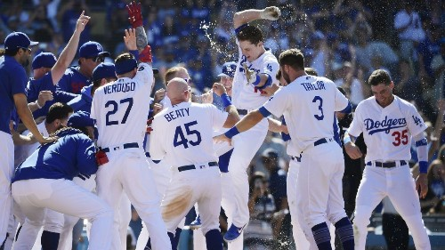 The Sports Report: Dodgers win third straight walk-off game