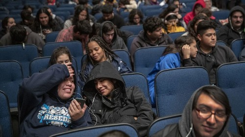 As LAUSD teachers strike, schools become movie theaters - Los Angeles Times