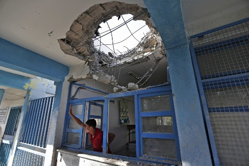White House condemns shelling of U.N. school in Gaza - Los Angeles Times