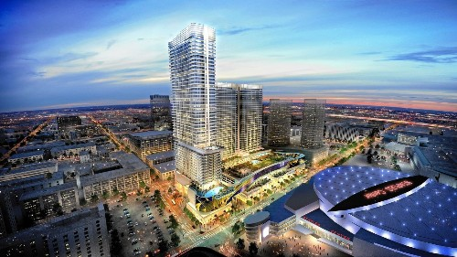 Work gets underway on stalled Fig Central complex near L.A. Live