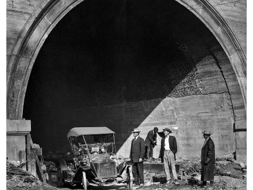 From the Archives: First car through Hill Street Tunnel