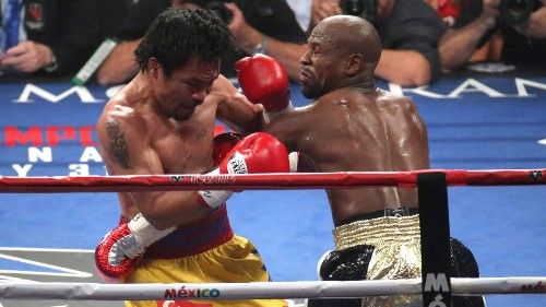 Manny Pacquiao laments injury after losing to Floyd Mayweather Jr. - Los Angeles Times