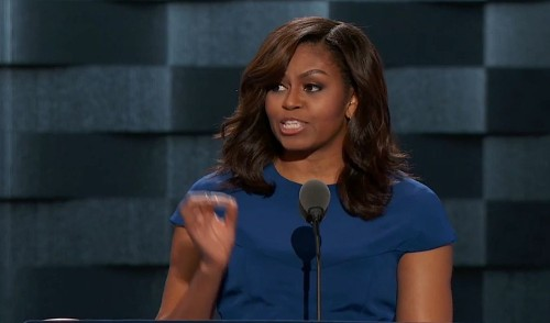 Michelle Obama's stunning convention speech: 'When they go low, we go high' - Los Angeles Times