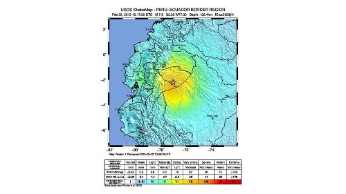Magnutude-7.5 quake strikes southern Ecuador