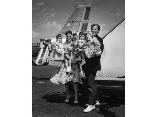 From the Archives: Pat Boone and family arrive in Los Angeles