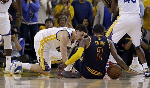 Cavaliers' Kyrie Irving has a fractured kneecap, done for NBA Finals - Los Angeles Times