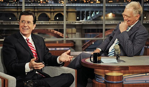 Stephen Colbert to visit 'Late Show With David Letterman' next Tuesday - Los Angeles Times