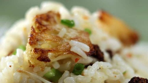 Here's the recipe for rice with roasted cauliflower from Ad Hoc