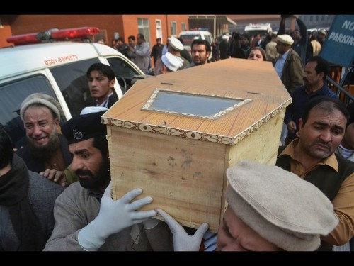 Children among 126 dead in Taliban attack on Pakistan military school